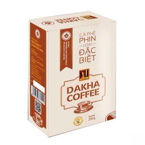 Cà phê bột Đắk Hà pha phin hộp đặc biệt (1 kg) vina cafe
