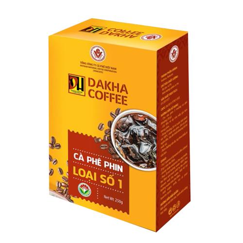 Cà phê bột Đắk Hà pha phin loại 1 (500g x 2hộp) vina cafe