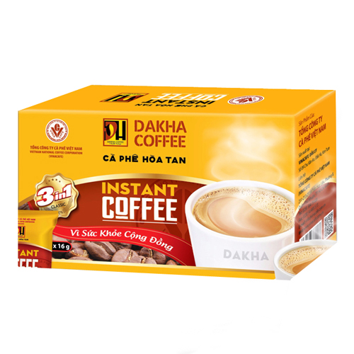 Cà phê Đắk Hà hòa tan 3in1 15 gói (250g x 4hộp )